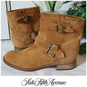 Saks 5th Avenue NY Suede Ankle Boots